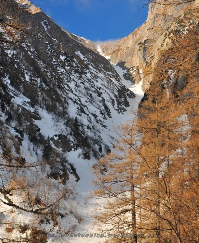 zapada pe Valea Alba, Bucegi