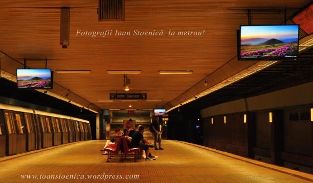 fotografii Ioan Stoenică la metrou