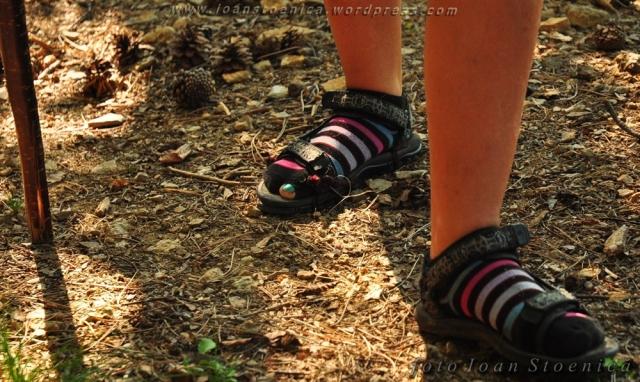 sosete si sandale rupte