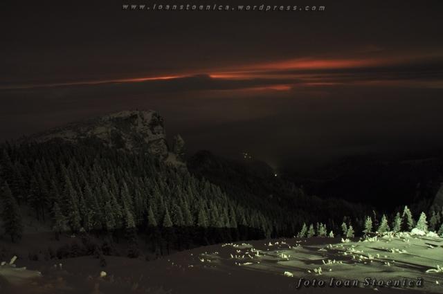 peisaj de noapte ceahlau