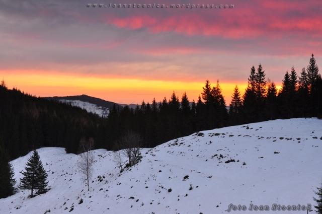 cer colorat de iarna