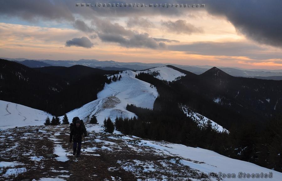 peisaj in muntii bistritei - iarna