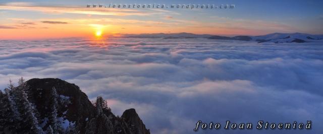 apus deasupra norilor - mare alpina