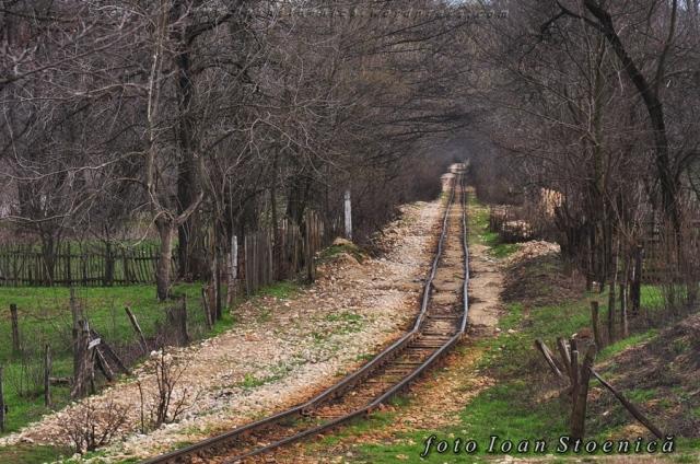 cale ferata de la cariera de piatra