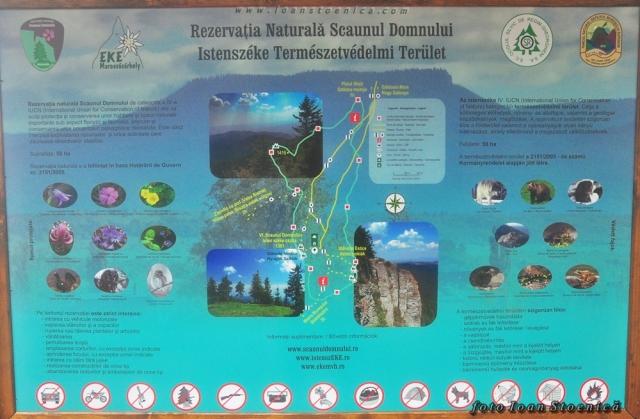 panou informativ - rezervatia naturala Scaunul Domnului - calimani