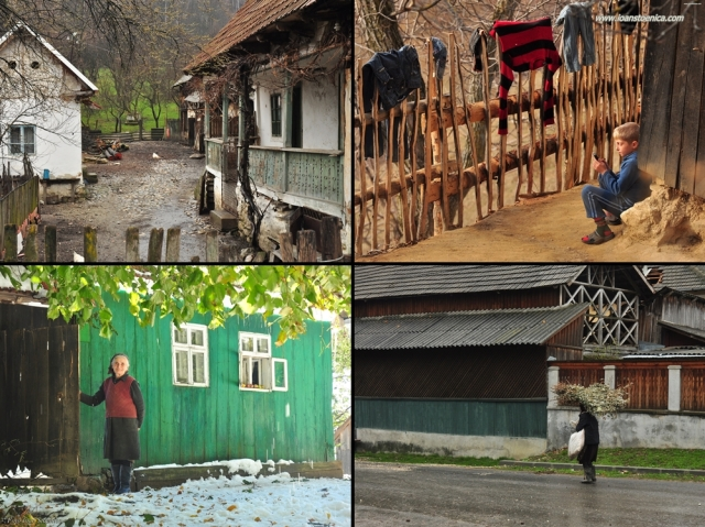oameni sate munte