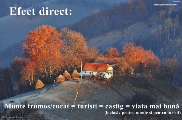 efect direct munte - turisti